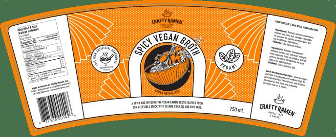 Spicy Vegan Broth Label