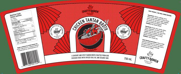 Tantan Broth Label