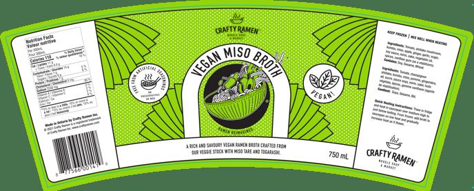 Vegan Miso Broth Label